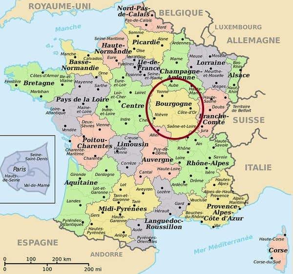 ブルゴーニュ地図