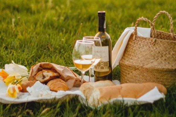 ワインでピクニック