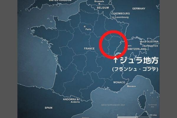 ジュラ地方地図